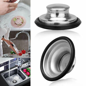 Universal Stainless Steel Kitchen Sink Strainer Waste Plug Filter Drain Stopper