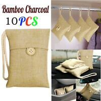 3-10PC Bag Car Bamboo Charcoal Activated Carbon Air Freshener Odor Deodorant