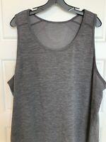Lululemon Men's Sleeveless Tank Metal Vent Tech Shirt Dark Gray Size XXL
