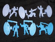 Vintage Rubber Keshi Figure Lot - Street Fighter Alpha Ryu Sagat Guy Dan Gen