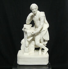 A Victorian Parian Porcelain figure of William Shakespeare  England 19th Century