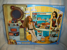 My Scene Barbie Makeup Accessory Cosmetic Counter Doll Playset NRFB 2003 NRFB