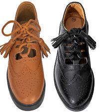 Brown Black Ghillie Brogues Leather Brogues Scottish Kilt Shoes