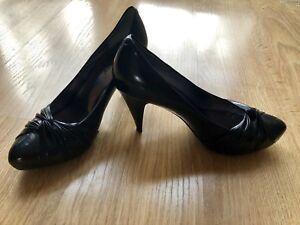 Natural Black Leather Shoes Hills Mascotte Italian 38 5 UK