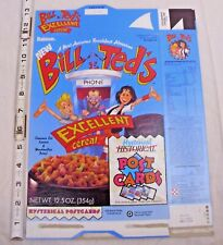 BILL & TED's EXCELLENT CEREAL BOX WITH POST CARD PREMIUM RALSTON
