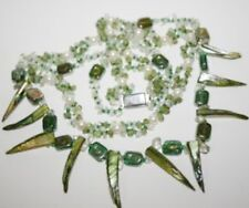 GORGEOUS PERIDOT GEMSTONE NECKLACE 20INCHES LONG ~
