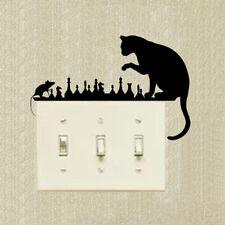 Switch Sticker Chess Cat Mouse Art Animals Vinyl Decal Decorative Cartoon