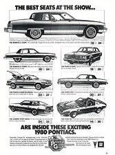 1980 Pontiac Bonneville Trans Am Grand Prix Advertisement Car Print Ad J365