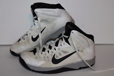 Nike HyperQuickness Basketball Shoes,#622759-100, Wht/Blk,  Men's US 7 / 7 Youth