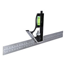 "300mm 12"" - Adjustable Engineers Combination Square Set Kit Right Angle Ruler GS"