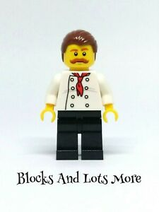Lego Town City - Male Chef Minifigure Figure From 60150 Pizza Van Set CTY0711