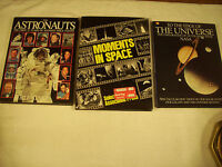 The Astronauts Moments in Space The Universe 3 Lot VGC 121-3A