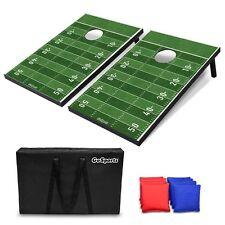 GoSports Portable Tailgate Cornhole Boards Game Set Football Edition 3'x2'