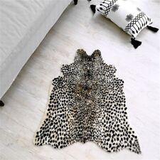 Zebra Tiger Leopard Cow Hide Animal Printed Faux Fur Rug Carpet Blanket Washable