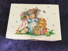 Vintage Walmart Girl London Bridges Falling Down Music Ballerina Jewelry Box