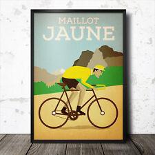maillot jaune yellow jersey tour de france poster cycling retro vintage