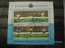 schöner Fussballblock 1990 gestempelt