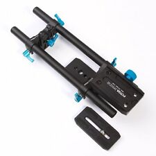 Quick Release 15mm Rod Rail System Baseplate Follow Focus for DSLR Video Camera