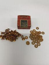 Atlas Copper Belt Rivets And Burrs #8 3/8 Box Of 36