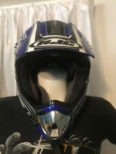 HJC CL-X4 Effect MOTOCROSS Motorcycle Racing HELMET Youth L Blue Silver White