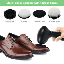 Electric Shoe Polisher Machine Cleaning Brushes Kit For Shoes Sofa Leather Shine