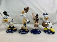 Lot of 4 Chip 'N' Dale Danbury Mint Figurines Disney Rare 2002 New York Yankees