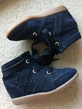 Authentic ISABEL MARANT Bobby Wedge Sneakers Faded Black Color Sz 36/6 $655 MINT