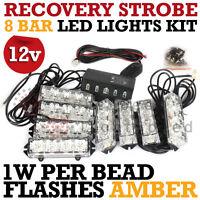 LED EMERGENCY STROBE LIGHT AMBER ORANGE RECOVERY BREAKDOWN FLASHING BEACON NEW