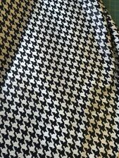 Cotton Sateen fabric Black And Cream Dogtooth By The Metre
