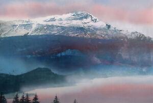 Dennis Frings Untitled Mountain Landscape Hand Signed Art Original Monoprint
