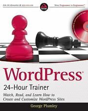 WordPress 24-Hour Trainer (Book & DVD)-ExLibrary