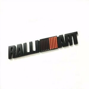 1pcs emblem badge sticker trunk metal black decal Lancer For Mitsubishi RALLIART