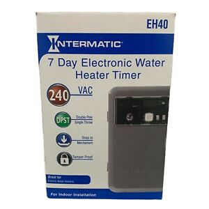 New Intermatic EH40 240 VAC 7-Day Electronic Water Heater Timer Tamper Proof