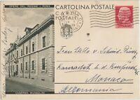 1932 OPERE DEL REGIME ROMA  CASERMA MUSSOLINI  INTERO POSTALE 75C X GERMANIA