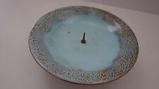 Emaille Kerzenständer emalliert Email 60er Kupfer hell blau Mid Century vintage
