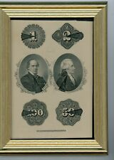 1870S $1 $2 $50 $100 NAT'L CURRENCY HAMILTON AND CHASE NAT'L BANK NOTE CO.N.Y.