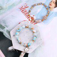 Crystal Natural Stone Gemstone Beaded Bracelet Bracelet Multi-layer Jewelry