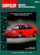 Chilton Repair Manual Repair Guide Chrysler Neon 1995-1999 DIY Book