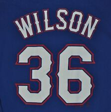 T-SHIRT L LARGE CJ WILSON TEXAS RANGERS BASEBALL MAJESTIC PITCHER SHIRT