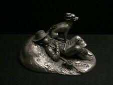Rare Schmid Pewter Rockwell 1958 Four Season Spring Boy Fishing Dog Figurine