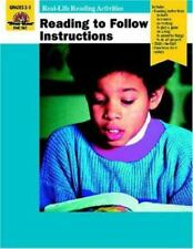 Reading to Follow Instructions ~ Teacher, Units ~ Grade 2 - 3 ~ Evan Moor