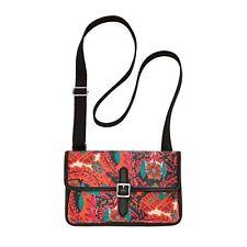 NEW* Fossil Handbag Bag Keyper Mini Crossbody Floral $58 RETAIL Red Orange