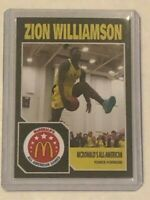 Zion Williamson Rookie Card - Rare McDonalds All American Card - Perfect Mint