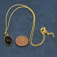 Black Onyx Gemstone Gold Plated Party Wear Necklace 925 Sterling Silver Jewelry