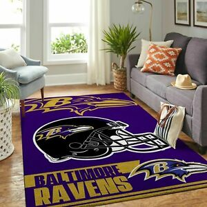Baltimore Ravens Soft Carpets Living Room Anti-Skid Rugs Bedroom Floor Mats Rugs