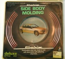 """NOS 1980'S SILVATRIM DELUXE SIDE BODY MOULDING STYLE 910  5/8"""" Cherry 16 FEET"""