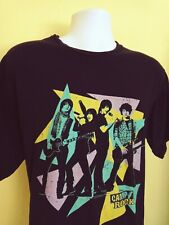 VINTAGE BLACK/NEON DISNEY CAMP ROCK WITH DEMI LOVATO AND JONAS BROTHERS T-SHIRT