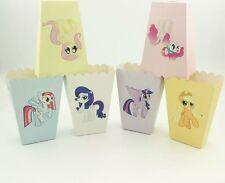 12 X MY LITTLE PONY THEME POPCORN BOXES / LOLLY BOX BIRTHDAY PARTY MIXED