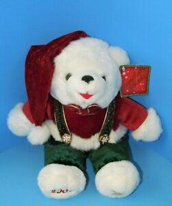 "DAN DEE 2002 Snowflake Friends Christmas Teddy Bear w/Hanging Tags 13"" L@@K"