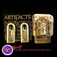 """JJ"" Jonette  GOLD Pewter 'LETS DANCE NITE AWAY' PIN EARRING  2 Sets Jewelry USA"